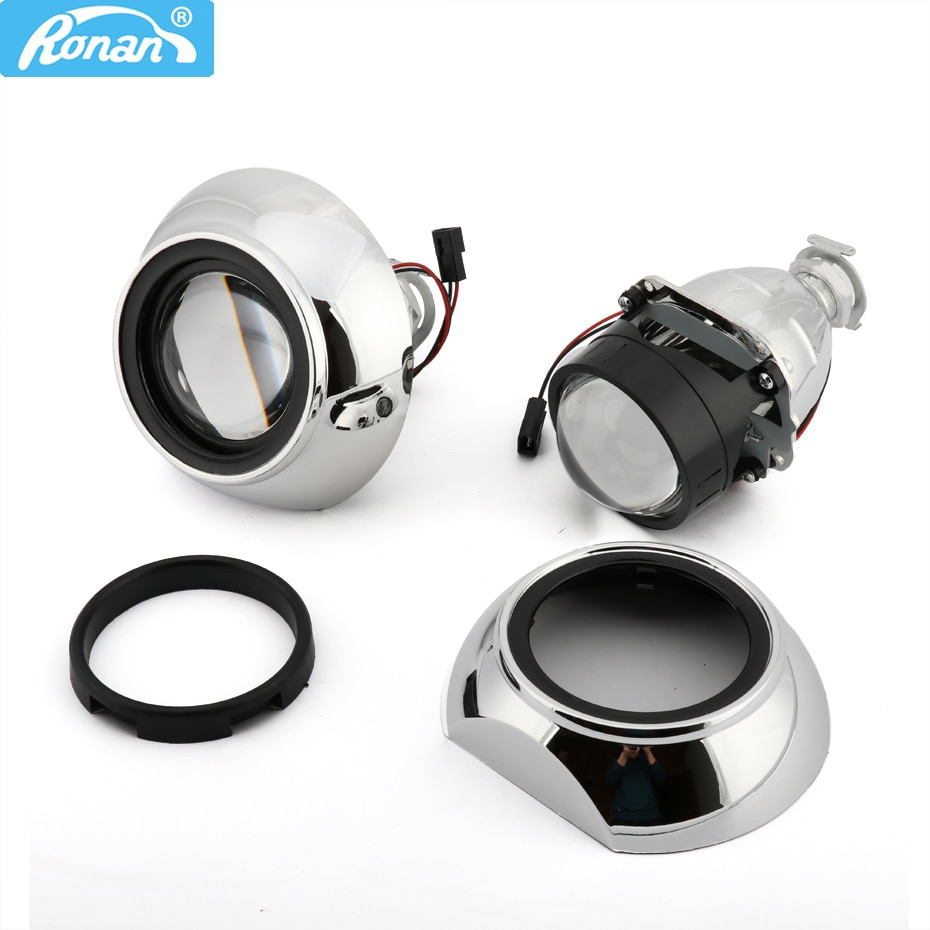 AliExpress - RONAN 2.5inch Bi-Xenon HID Projector Ver8.1 Lenses Headlight Iris Smax GTI Shrouds Retrofit H1 H4 H7 Car Headlamp Car Styling