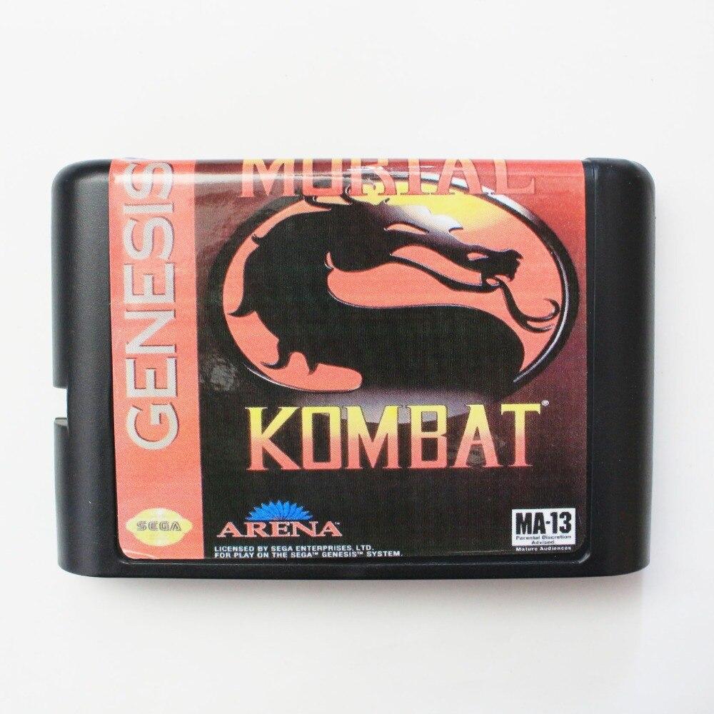 Mortal Kombat 16 bit SEGA MD Game Card For Sega Mega Drive For Genesis