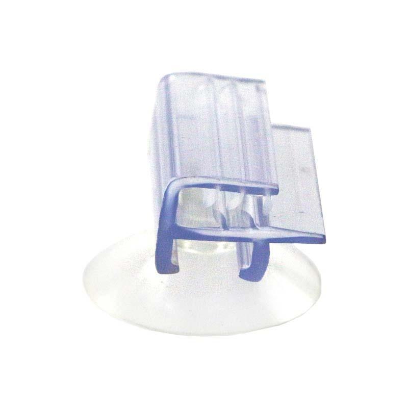 Ventosa montaje al ras con agarre suave ventana vidrio pared estante precio etiqueta titular mostrar bandera PVC letrero colgante Clips dentados