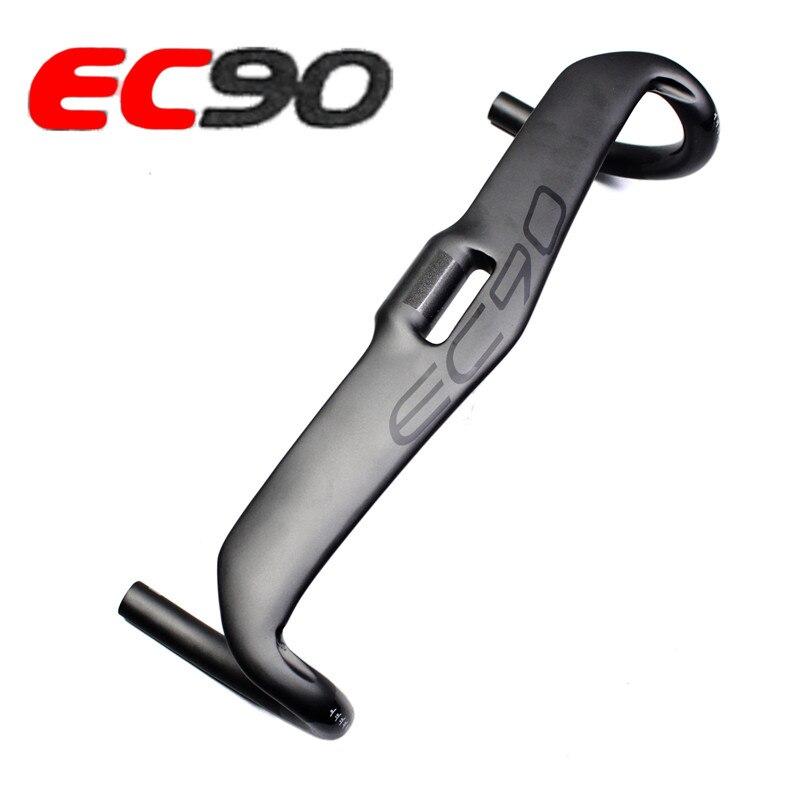 Руль для велосипеда EC90, углеродное волокно, 31,8*400 420 440 мм