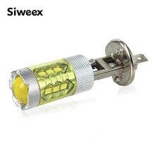 Ampoules antibrouillard H3 H4 H7 H8 H11 9005   Jaune or, 80W, lampes automobiles Super lumineuses, 12 volts cc, pour conduite, nouveau