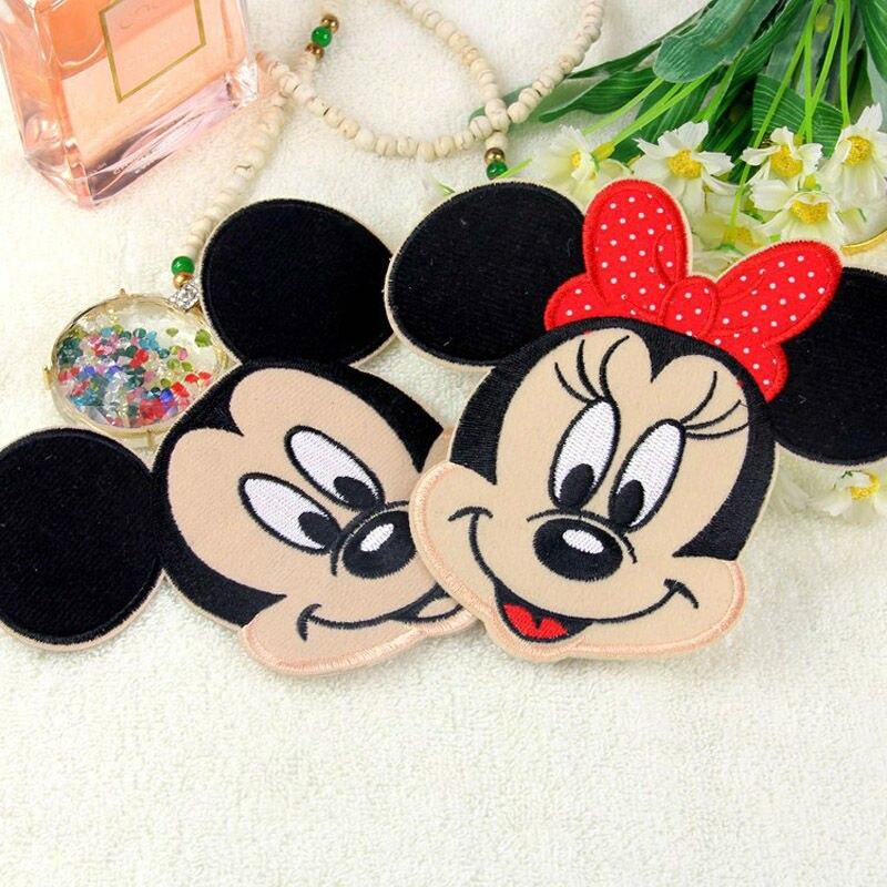 Parches bordados de hierro con parches de dibujos animados para niños, Minnie Mickey, ropa para niñas, niños, venta al por mayor