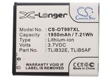 Cameron sino alta qualidade 1950 mah bateria cab32e0000c1, tlib32e, tlib5af para alcatel OT-5035, 5035d, 997, 997d, para tcl j160, s710, s800