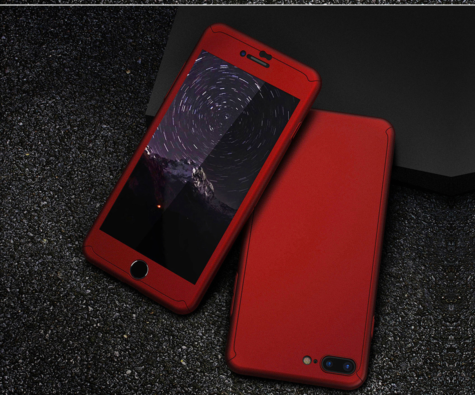 Floveme 360 pełna ochronne twarde etui na telefony iphone 6 6s plus 7 7 plus coque luksusowe odporny na wstrząsy case + ekran szkła Protector 11