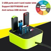 قارئ بطاقات USB متوسع متعدد الوظائف ذاكرة OTG مايكرو SD TF USB 2.0 كاردريدر كاارتليزر ليكتور دي تارجيتاس ليكتيور كارت sd