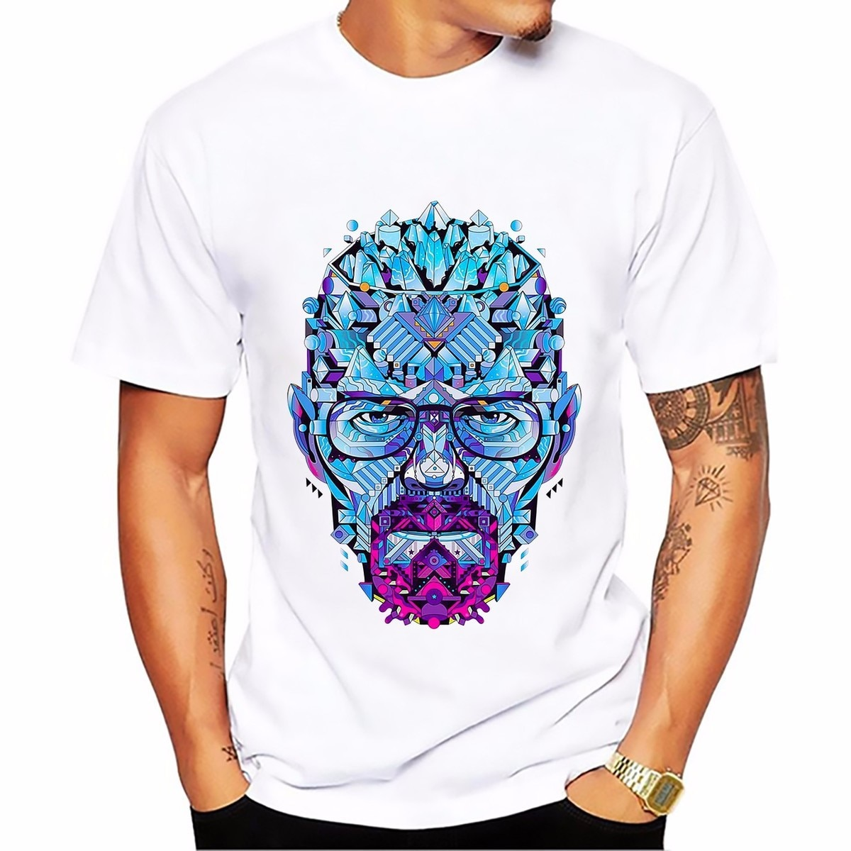 Breaking Bad heisenberg Walter White jessie pinkman t-shirt short sleeve casual tshirt Breathable comfort plus size t shirt