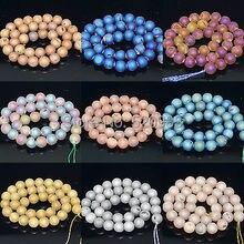 Naturstein Metallic Titan Beschichtet Natur Druzy Quarz Agat Runde Perlen 8 10 12mm für Armband Halskette, DQAB01
