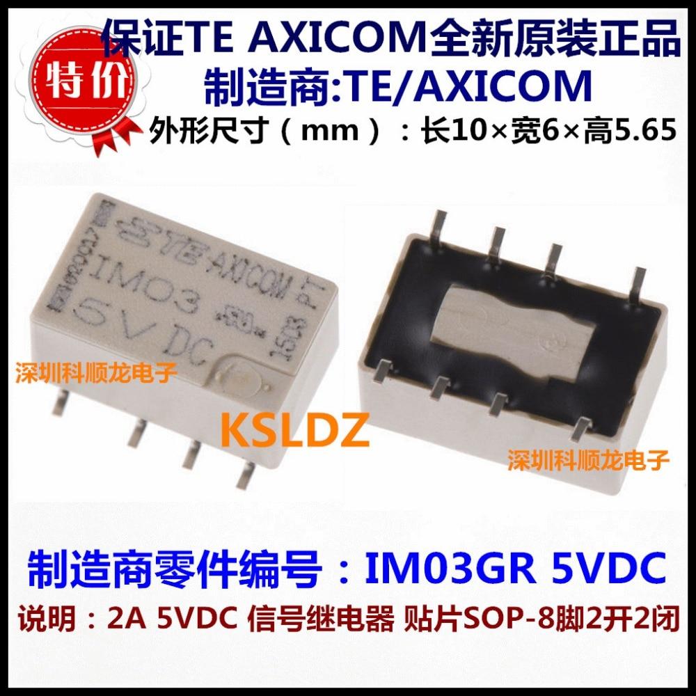 100% Original nuevo TE IM03GR IM03 8 pines 2A 5VDC relés de señal