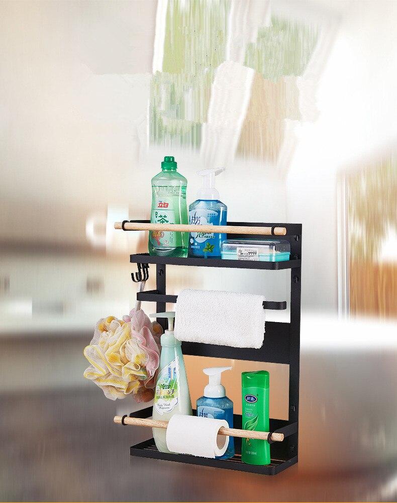 1 ud. Estante de Metal lateral para nevera estante multiusos estante de almacenamiento de grietas organizador de cocina multicapa OK 0652