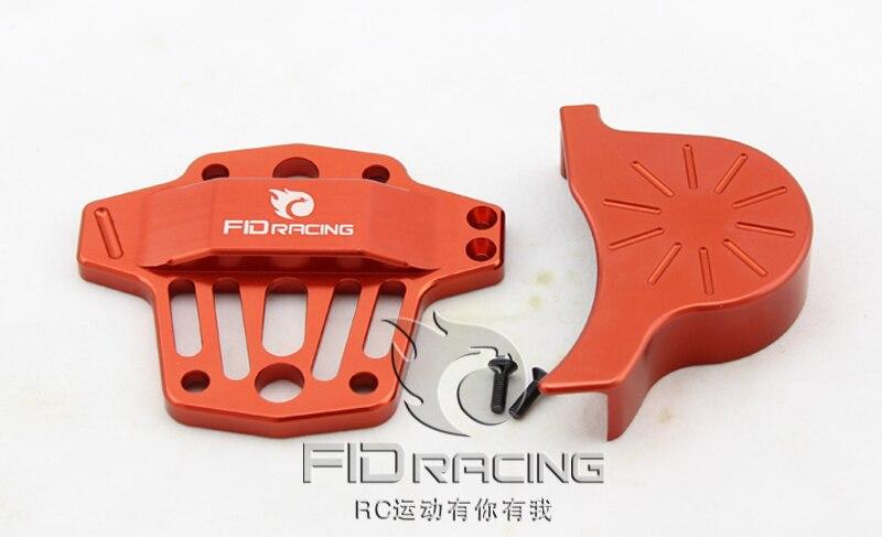 Batmobile Centro diferencial tapa de palanca de cambios para LOSI 5IVE T (color rojo)