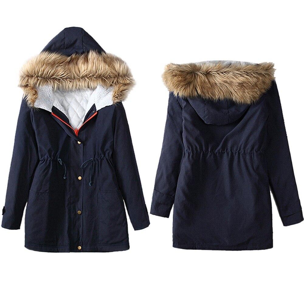 معطف فرو نسائي للخريف والشتاء, جاكيت نسائي من القطن ، معطف خريفي وشتوي
