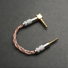 OKCSC 3.5mm Jack mâle à mâle Audio câble stéréo connecteur AUX 3.5mm prise pour casque amplificateur lecteur MP3 L Type un côté