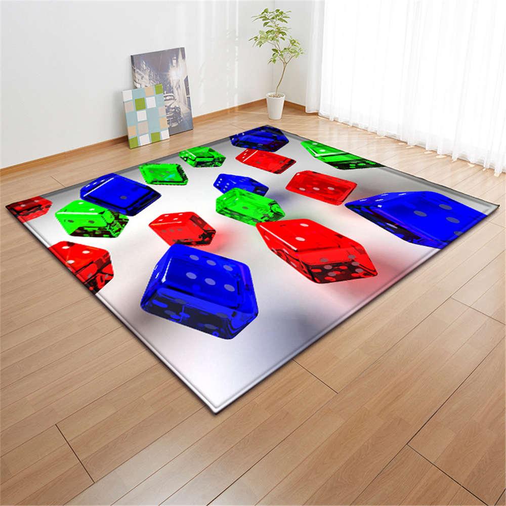 3 D Rubik's Cube Printed Living Room Carpets Kids Room Decor Baby Play Mat Soft Flannel Memory Foam Tea Table Area Rugs Carpet