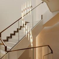 Custom creative personality living room dining room duplex villa rotating stairwell Pendant Lights wf4261117