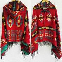 Этнический многофункциональный шарф богемная шаль, толстовка с бахромой, куртка, полосатый кардиган, одеяла, накидка, шаль, пальто пончо с к...