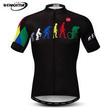 Weimostar 사이클링 저지 남자 진화 자전거 사이클링 의류 여름 짧은 소매 mtb 자전거 저지 탑 반사 자전거 셔츠