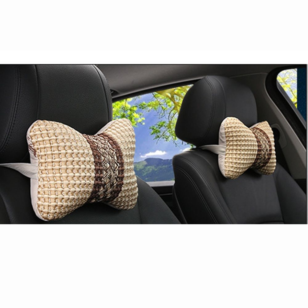 1pc couro breathableauto carro pescoço resto encosto de cabeça almofada travesseiro fronha cabeça espuma memória cabeça pescoço macio resto