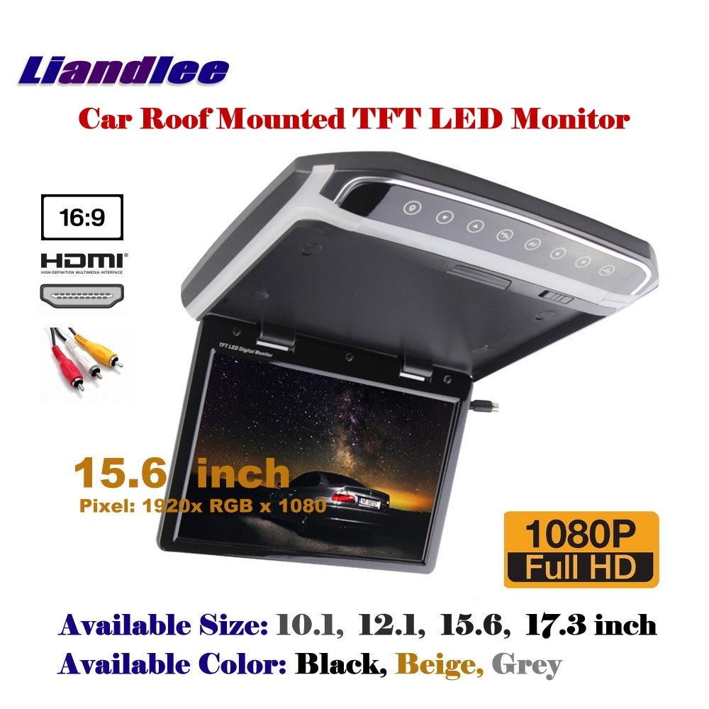 15.6 Polegada teto aéreo do carro tft led tela/telhado montado monitor/flip down display mp5 player/1080p hd digital cor tv
