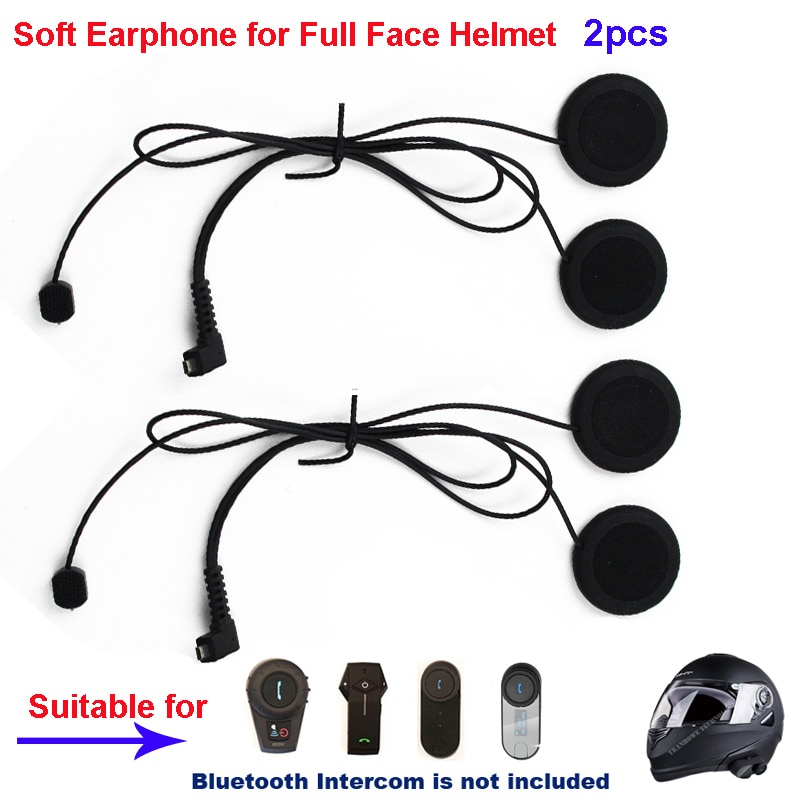 2 uds motocicleta intercomunicador accesorios suave auricular Mic para FDC-01VB T-COMVB TCOM-SC/TCOM-02 la máscara