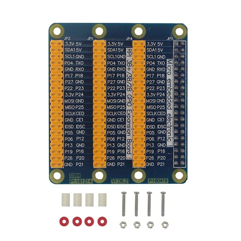 Raspberry Pi Modelo B 3x40 pines GPIO adaptador de placa de extensión 1 a 3 GPIO módulo Orange Pi Raspberry Pi 4B/3B +/3B