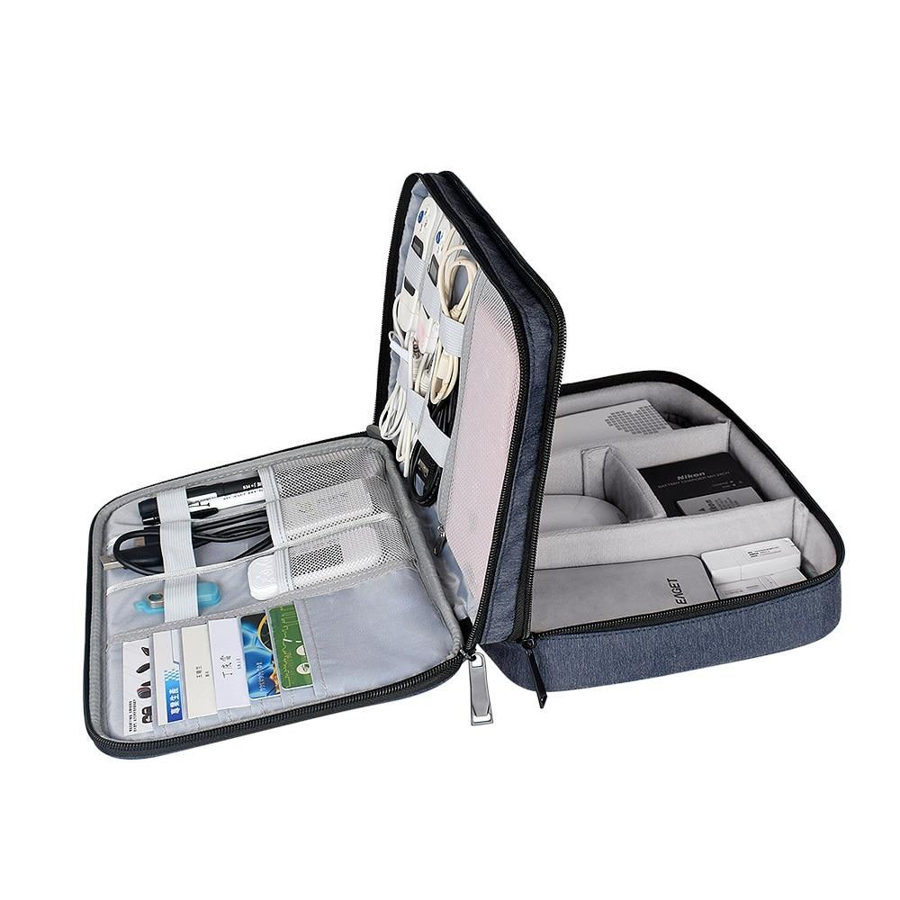 Electronics Organiser hard Case Bag for Adaptors, Cable Sleeves, Chargers, Hard Drives, iPad air, iPad mini, Kindle,Camera Len