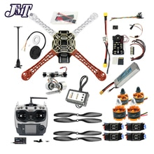 JMT DIY RC 드론 키트 Hexacopter 4 축 항공기 HJ 450 프레임 PXI 비행 컨트롤러 920KV 모터 GPS 1045 Propes AT9S 송신기