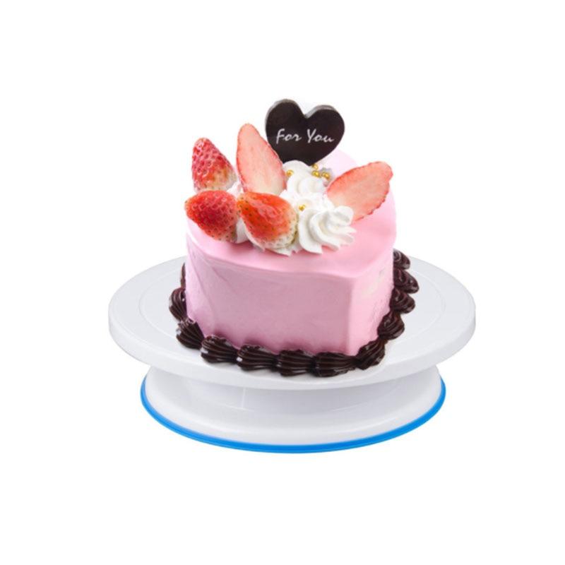 6PCs/Set Cake Turntable Rotating Plastic Dough Knife Decorating Cakes Stand Cake Rotary Table Baking DIY Cake Tool