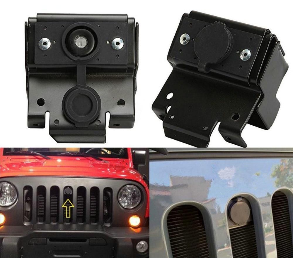 New Bolaxin Car- stylingTD Hood Lock Locking Anti-Theft Kit Assembly Set For 2007-2019 Jeep Wrangler JK Anti-Theft Alarm System