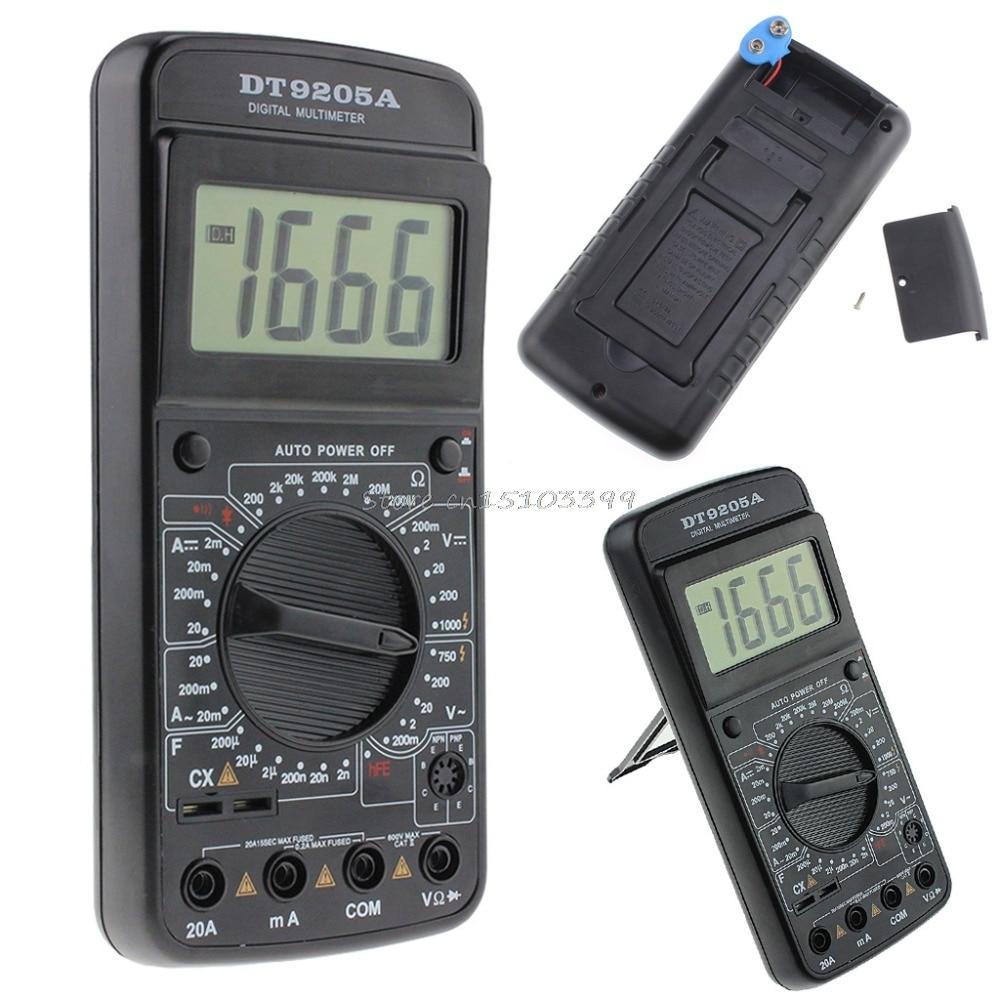 DT9205A Digital Multimeter AC/DC Voltmeter Ammeter Resistance Capacitance Meter Tester Tools Drop Ship