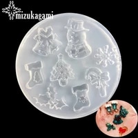 1pcs uv resin jewelry liquid silicone mold snowflake christmas snowman trees for diy decorate making christmas gift jewelry