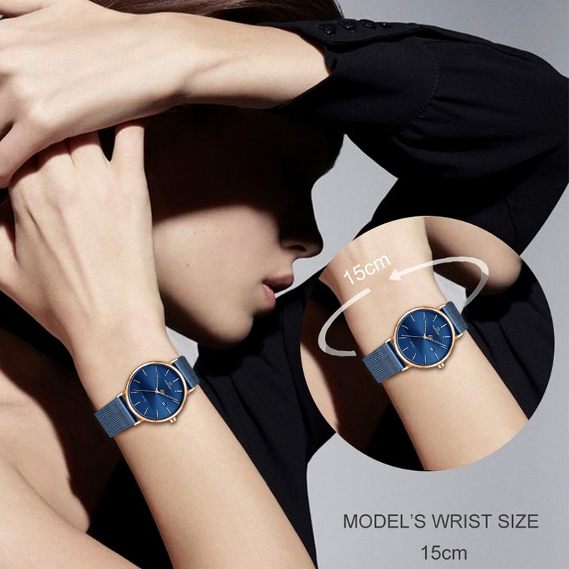 NAVIFORCE Fashion Couple Watch Mesh steel belt Women Watches Top Luxury Brand Waterproof Women Watches Reloj Mujer enlarge