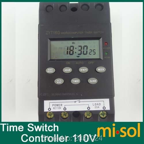 Interruptor da Tela Interruptor do Temporizador Pcs de 110 Temporizador Controlador Programa – Amplificadores 25a Programável 10 v Lcd