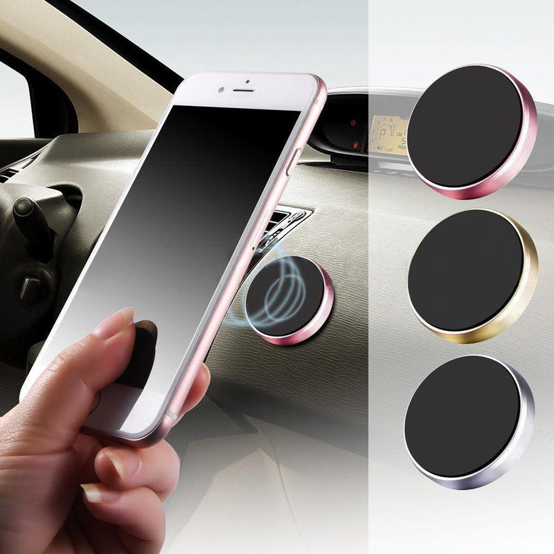 TOSPRA Universal GPS para coche palo imán Mout soporte de Metal coche soporte para teléfono etiqueta engomada magnética móvil Smartphone-1 Uds