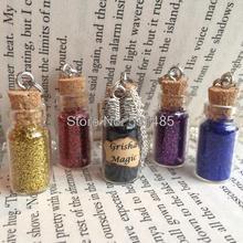 12 unids/lote Grisha botella mágica COLLAR COLGANTE inspirado en la trilogía de Grisha