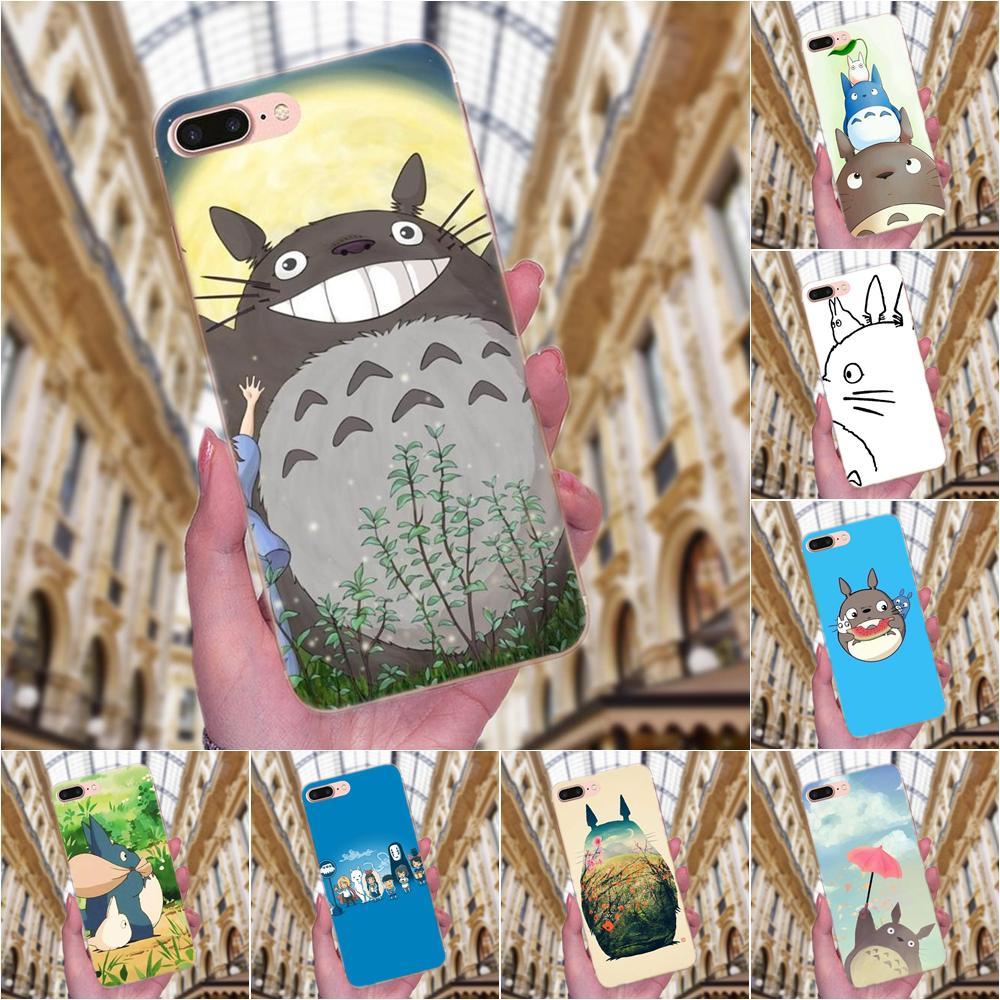 Ghibli mi vecino Totoro Anime de dibujos animados para Huawei P7 Honor 4C 5A 5C 5X 6 6C 6A 6X 7 7X 8 9 V8 V10 Y3II Y5II Y6II G8 jugar Lite