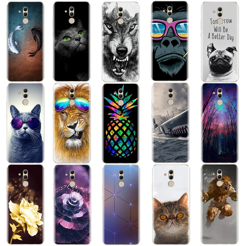 soft case For Huawei Mate 20 Lite Case 6.3 inch Transparent Silicone Phone For Huawei Mate 20 Lite C