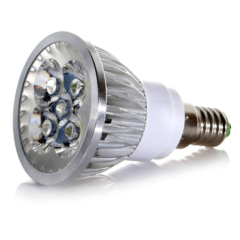 5/10 Uds SET E14 4W LED Spot Spotlight bombilla blanca cálida fría AC 220V