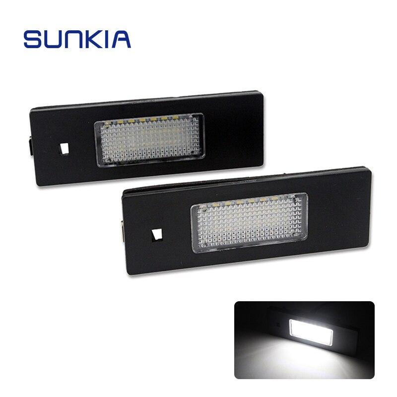2 unids/set SUNKIA LED para matrícula de coche luces para Alfa Romeo 156/159/166/147/Brera golpe/GT/Nuovo araña con Canbus
