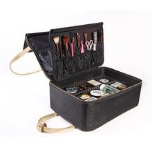 Organisateur de maquillage professionnel de haute qualité femme Bolso Mujer bon sac cosmétique mallette de rangement de grande capacité valises multicouches