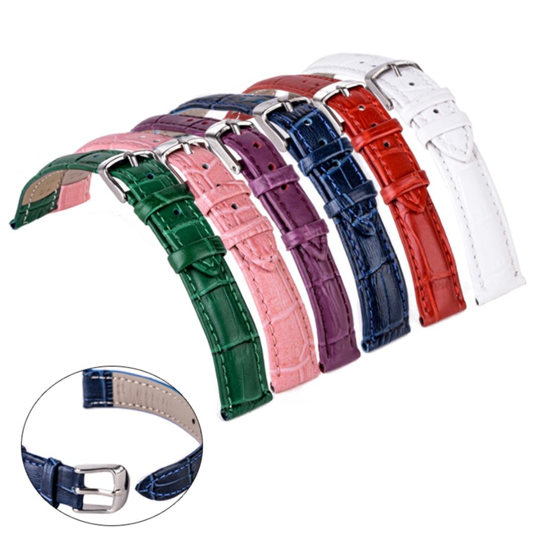 Shellhard 12-22mm Genuine Leather Watch Band 6Colors Alligator Croco Grain Genuine Leather Wristwatch Band Watch Strap
