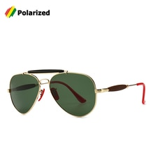 JackJad 2019 Modern Vintage Aviation Style Polarized Sunglasses Red Nose Pad Brand Design Sun Glasses Oculos De Sol With Hood