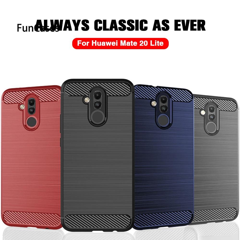 Funda del teléfono para Huawei Honor 10 caso de silicona suave cubierta de fibra de carbono para Huawei Honor 8X 8A 8C caso de lujo coque Funda Huawei