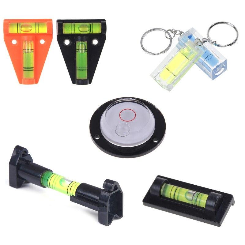 Mini Instrument de mesure de niveau à bulle t-type rond niveau à bulle carré 9 Styles avec porte-clés