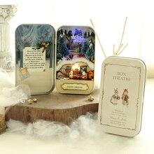 Christmas Dream 3D Doll House Dollhouse Miniature Box Wooden DIY Handmade Box Cute Mini Doll House Assemble Kits Gift Toys