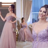 beaded prom dresses 2019 sweetheart neckline lace beading tulle floor length blush evening gowns vestidos de fiesta