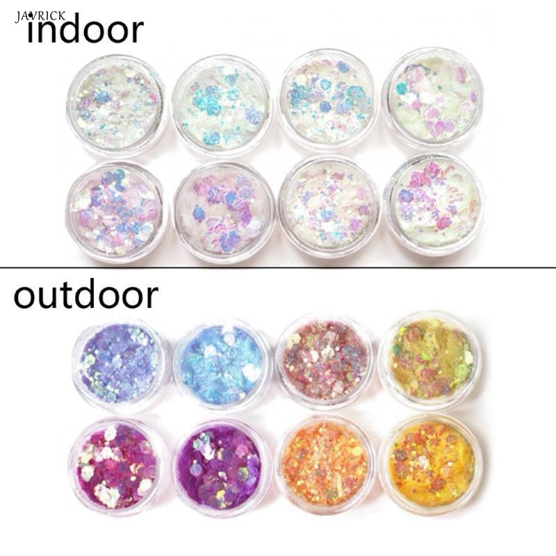 Color UV cambio Mica en polvo luz solar reactiva Sequain brillo resina joyería de accesorios de bricolaje