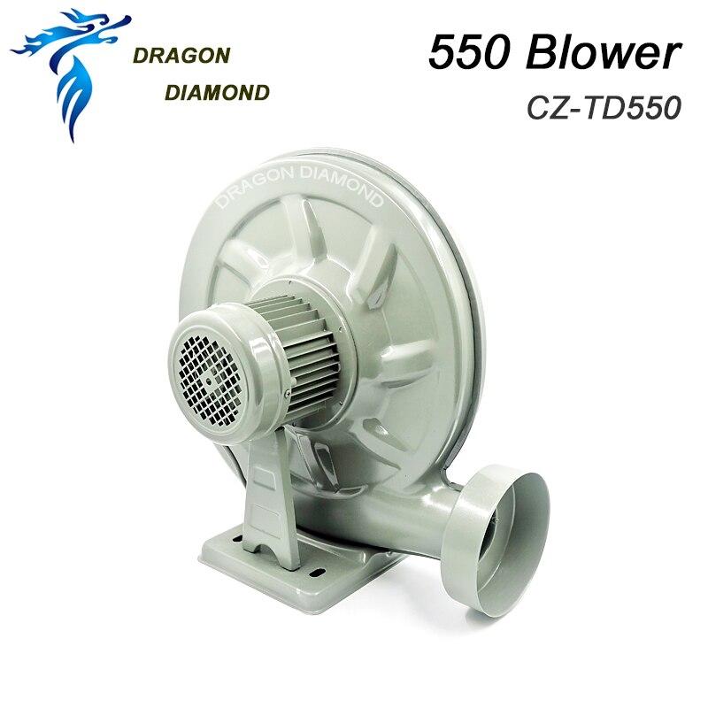 DRAGON DIAMOND 220V 550W Exhaust Fan Air Blower Centrifugal for CO2 Laser Engraving Cutting Machine Medium Pressure Lower Noise