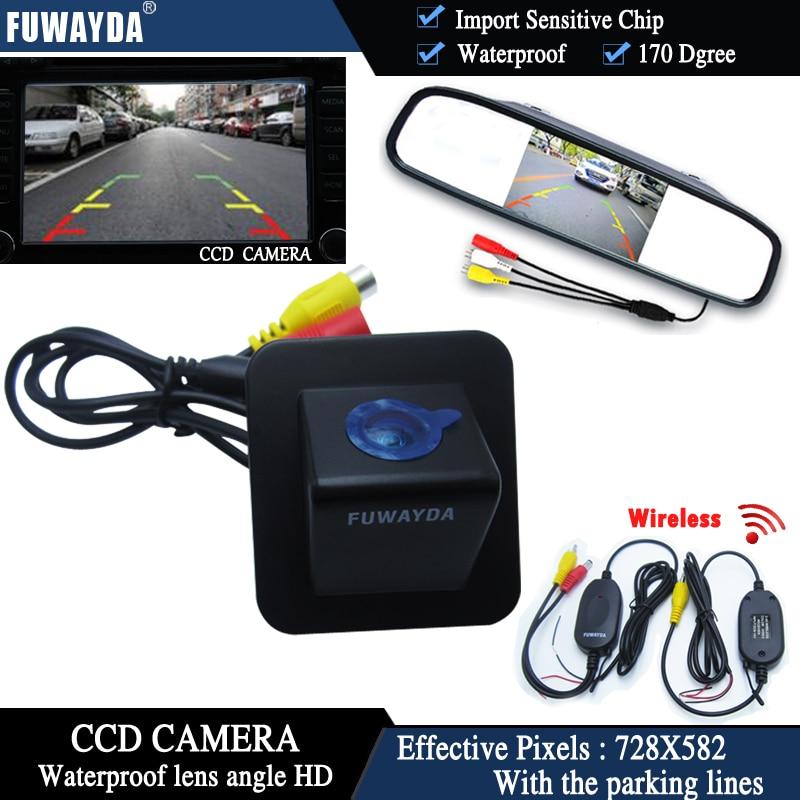 Cámara inalámbrica FUWAYDA con Chip de CCD a Color vista trasera de coche para Hyundai Elantra Avante 2012 + 4,3 pulgadas Monitor de espejo retrovisor a prueba de agua