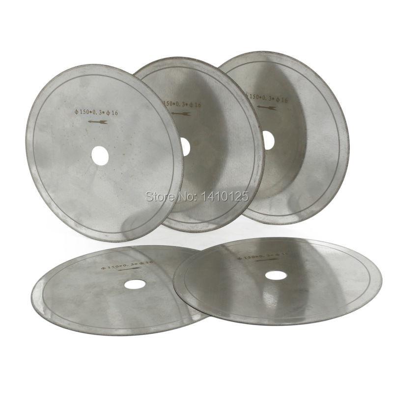 "5Pcs 6 ""zoll Super-Dünne Arbor Loch 5/8"" Felge 0,4mm Diamant Lapidar Sägeblatt Schneiden disc Saving in Material Schmuck Edelsteine Achat"