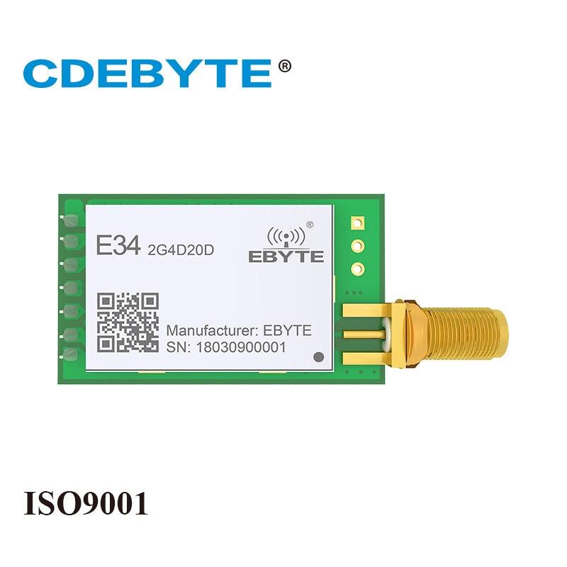 Módulo receptor transmisor y transmisor inalámbrico de alta velocidad, completo y doble, nRF24L01P 2,4 Ghz 100mW Ebyte SMA, antena uhf